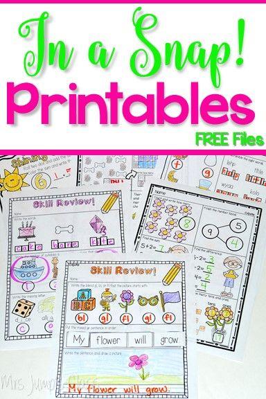 Printable worksheets | TpT FREE LESSONS | Pinterest | Printable ...