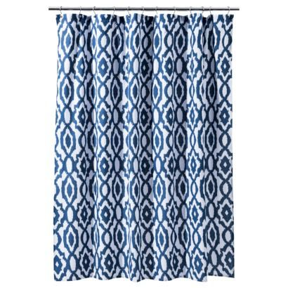 coral and blue shower curtain. Threshold  Ikat Shower Curtain Mint Ash Goes with the theme readily available and pretty inexpensive Maybe a coral bath rug to go it So Instead of paying 40 pluse shipping on shower curtain