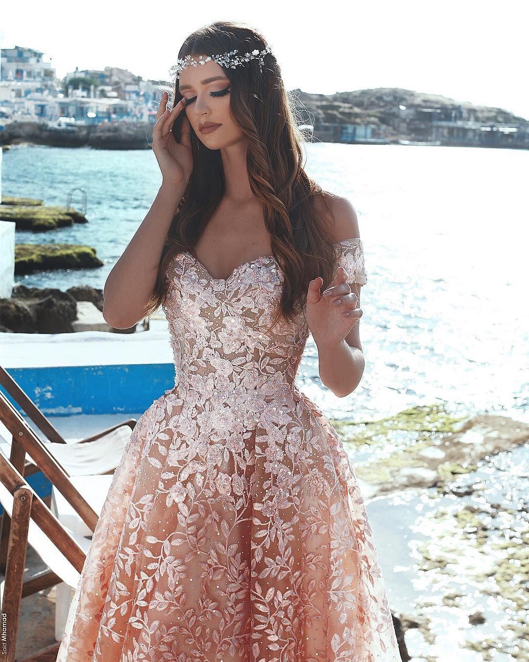 günstige spitze abendkleider lang kleid koralle