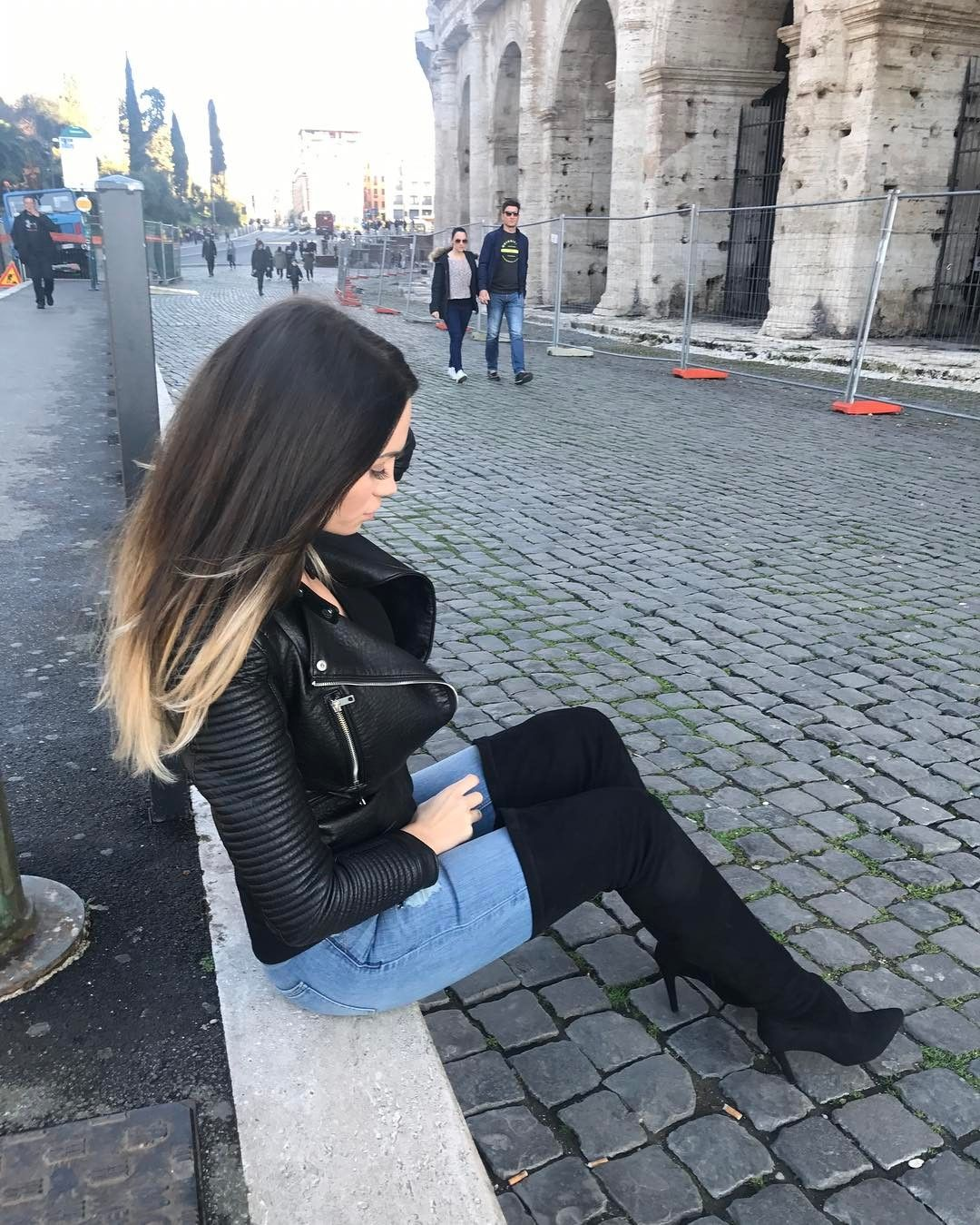 fetish Boots over jeans