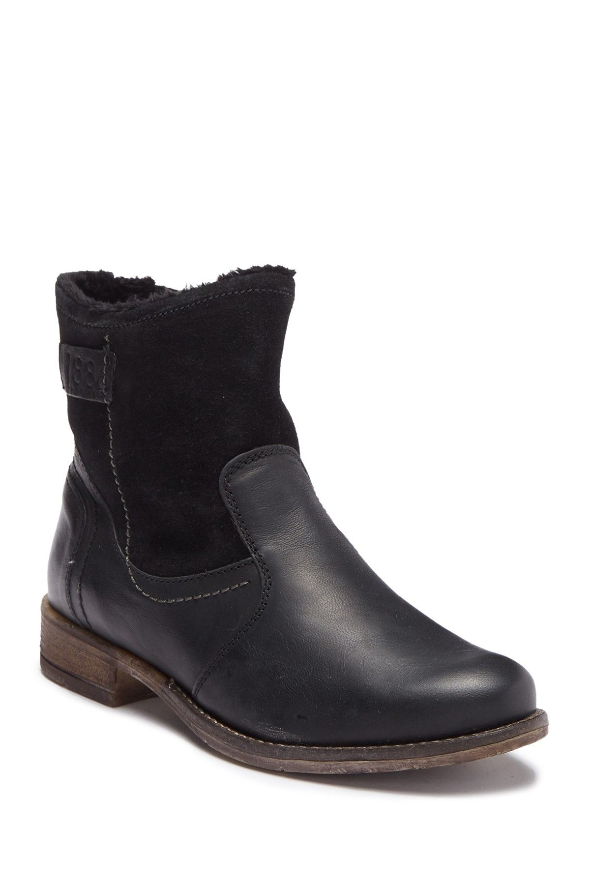 bd63d3c92df Sienna Leather Faux Fur Lined Boot by Josef Seibel on  nordstrom rack