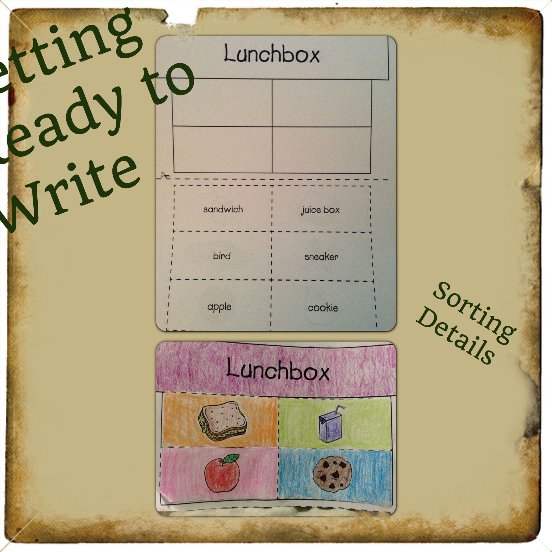 Empowering Writers Getting Ready To Write K 1 Sorting Details Lesson For Expository Writing