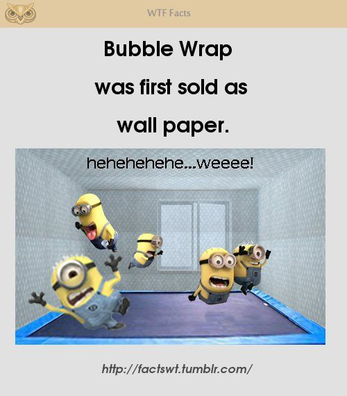 I would want a bubble wrap wallpaper!