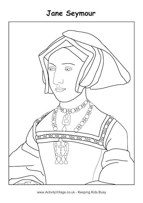 Jane Seymour colouring page oktouse | SCA Youth Activities ...