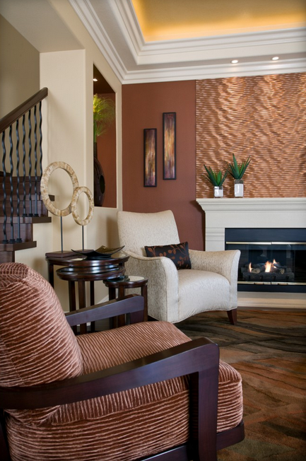 Copper Accents Accent Wall