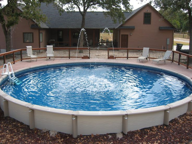 Large Round Above Ground Pool Wilson County In Ground Pools