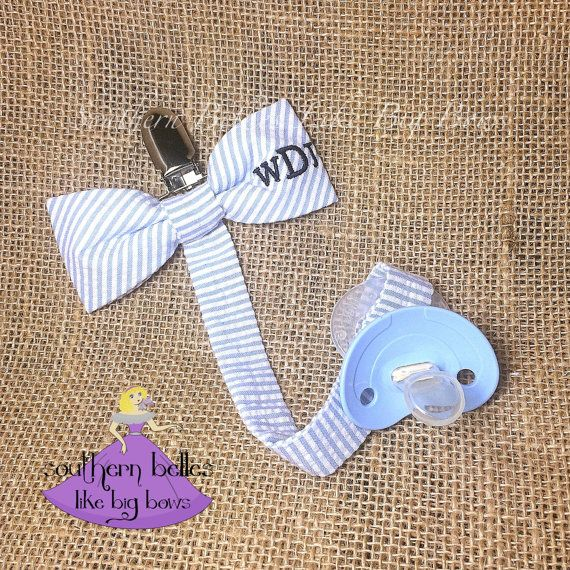 Personalized baby gift seersucker pacifier by belleslikebigbows personalized baby gift seersucker pacifier by belleslikebigbows negle Image collections