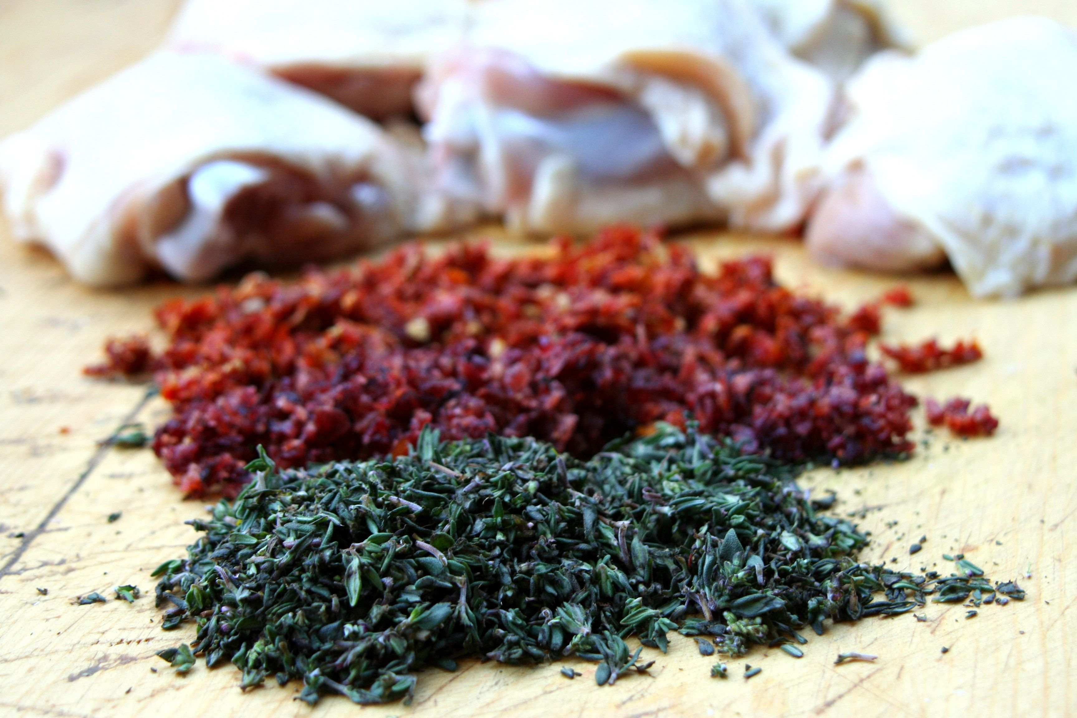 Thyme, Cranberry, Tomato Chicken (Breakaway Cook)