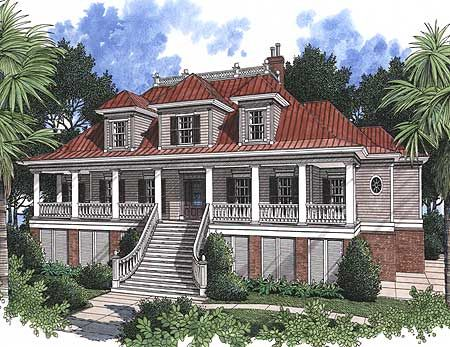 Plan 60028rc Spacious Low Country Home Plan Low Country Homes Country Style House Plans Beach Style House Plans