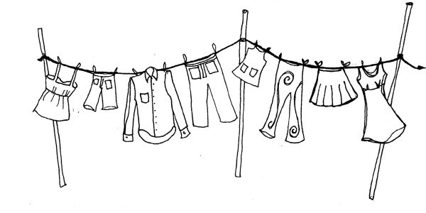 Printable Clothesline Coloring Pages
