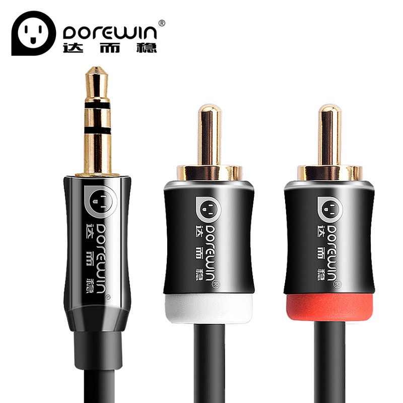 Dorewin Audio Cable jack 3.5 to 2rca cable male to male 2rca to ...