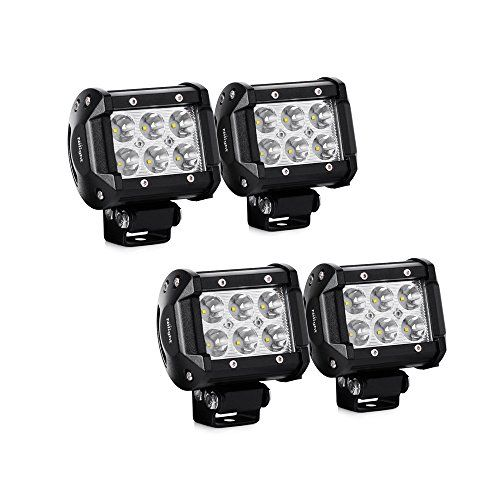 Led Light Bar Nilight 4pcs 4 Inch 18w Led Bar 1260lm Spot Led Off Road Driving Lights Led Fog Lights Jeep Lighti Led Fog Lights Led Light Bars Off Road Lights