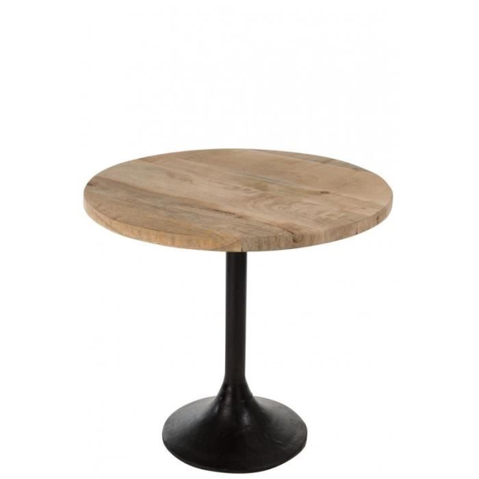 Table ronde en bois pied central m tal noire brut pinterest table ronde en bois table ronde - Table ronde pas cher occasion ...