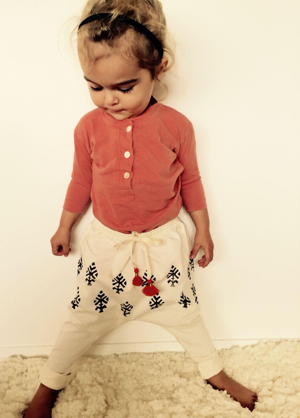 Organic harem pants and tassels #maluorganic