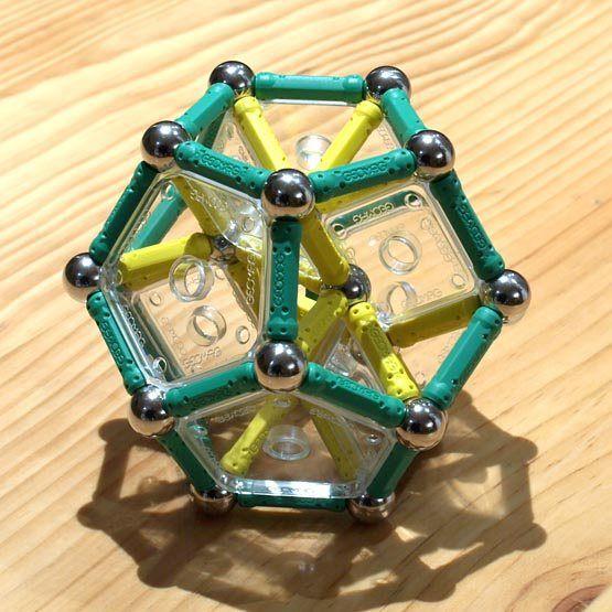 Construcciones Con GEOMAG: El Dodecaedro Regular Reforzado