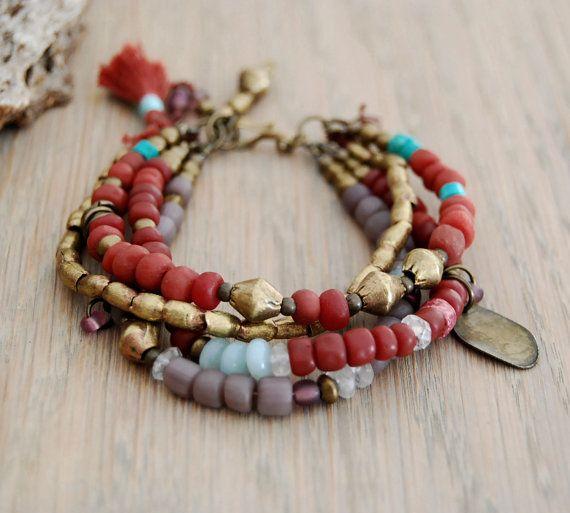 bohemian gypsy bracelet hippie bracelet boho jewelry by OmSaha