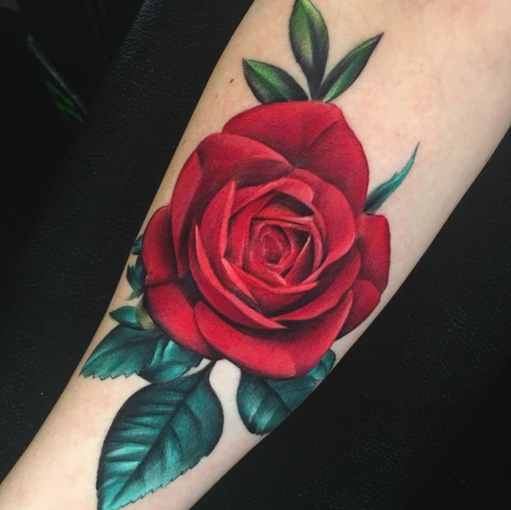 Tattoo Leg Rose Flower Skinartmag Blackwork Salemma Red Rose Tattoo Rose Tattoos For Women Colorful Rose Tattoos