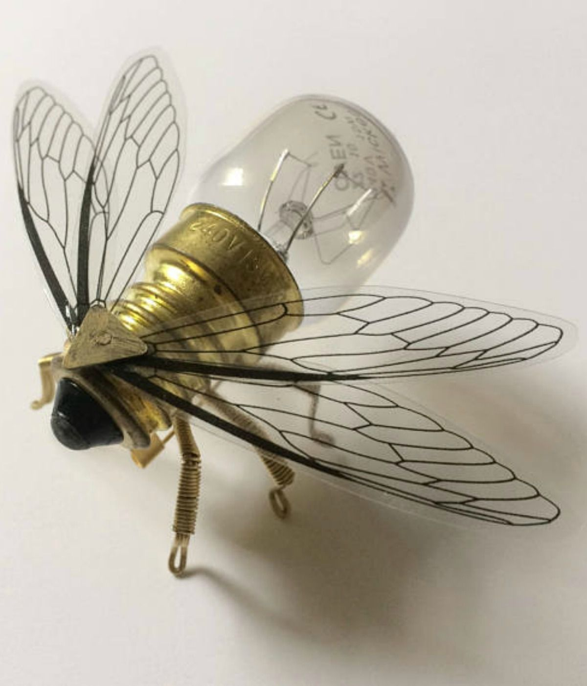 fdd366884ba Bee Lightbulb Brooch - Unique Steampunk Steam Punk Clockwork Jewelry  ad   Etsy  bees  steampunk