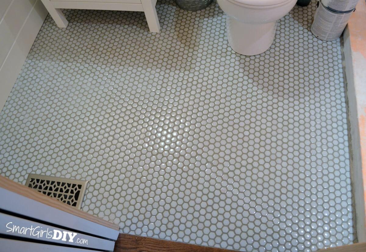Hexagon Mosaic Floor Tile From The Tile Shop Hex Gloss Moss Tile Floor Mosaic Flooring Hexagon Mosaic Floor