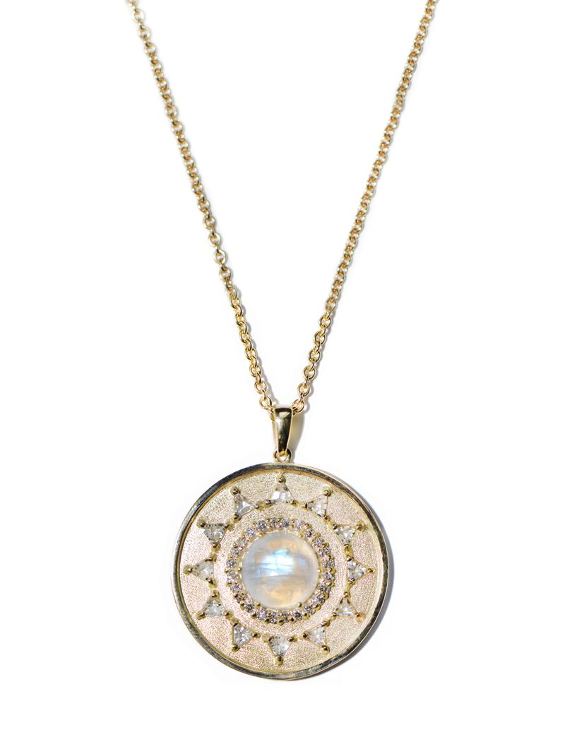 Anzie - Aztec Mayan Necklace - Moonstone