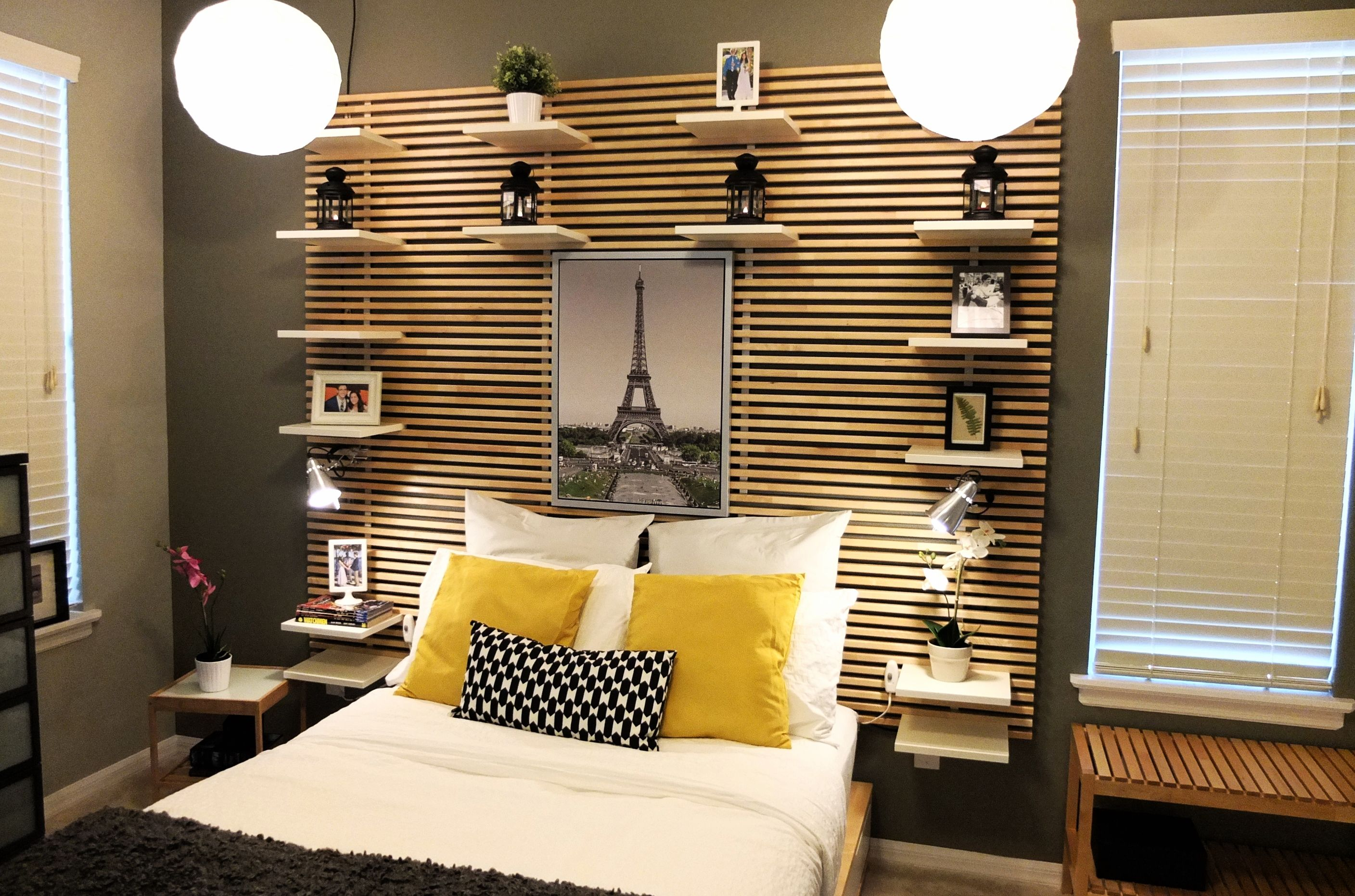 the mandal headboard is a great solution for rooms with little floor space use the include. Black Bedroom Furniture Sets. Home Design Ideas