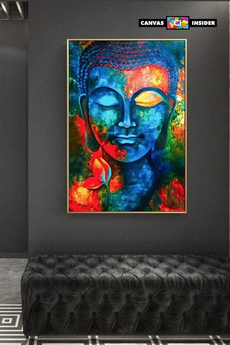 PEACEFUL BUDDHA Contemporary Canvas Print Wall Art