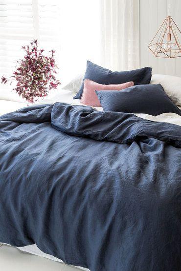 Hampton Linen Duvet Cover Set Online | Shop EziBuy | linen ... : quilt cover australia buy online - Adamdwight.com