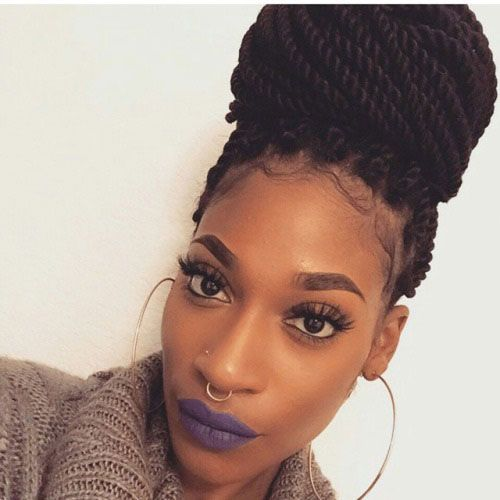 Swell 29 Senegalese Twist Hairstyles For Black Women Protective Styles Hairstyles For Men Maxibearus