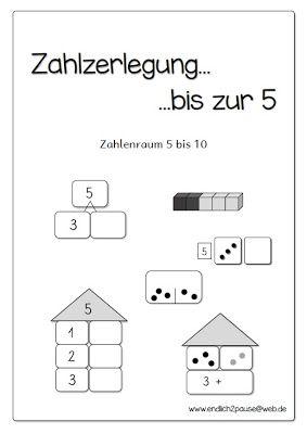 endlich pause 2 0 zahlzerlegung bis 5 mathe pinterest mathe mathematik und grundschule. Black Bedroom Furniture Sets. Home Design Ideas