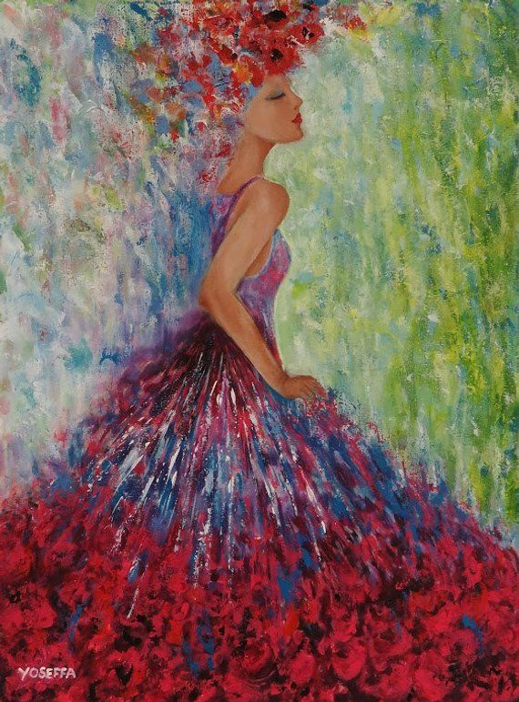 cfee1678b5ae3 Acrylic painting Beautiful & Colorful Abstlract women painting ...