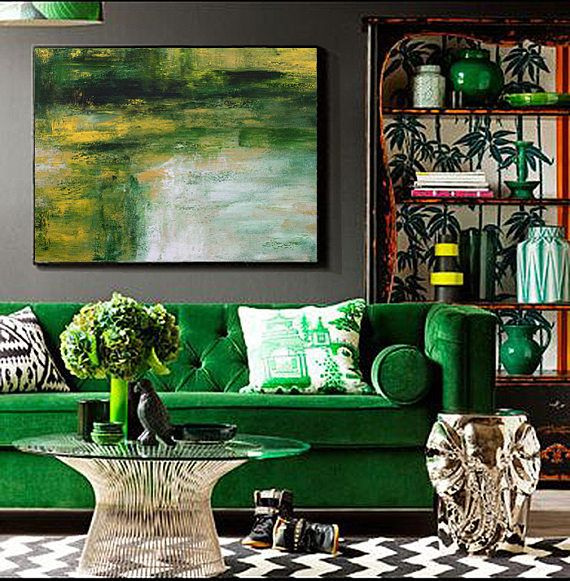 27+ Emerald green couch living room inspirations