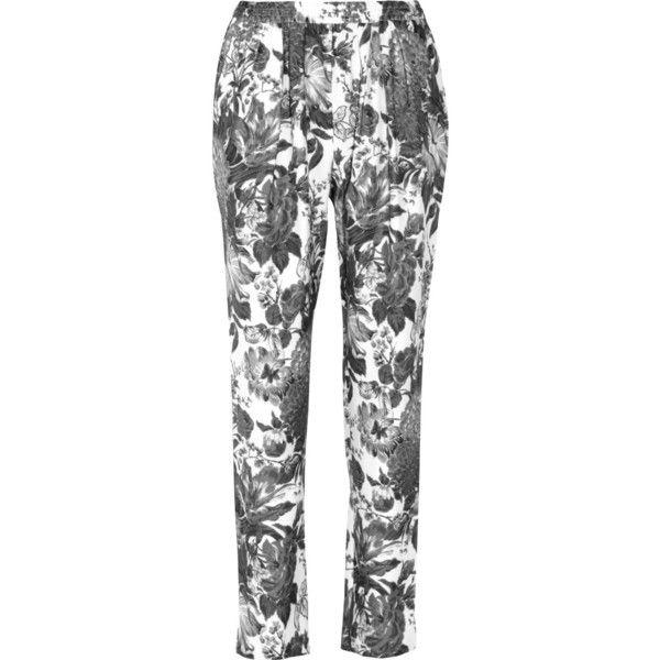 Stella McCartney Christine floral-print silk tapered pants ($925) via Polyvore