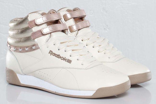 "8374e520 Reebok Freestyle Hi ""Pearl†30th Anniversary Edition | Shoe love"
