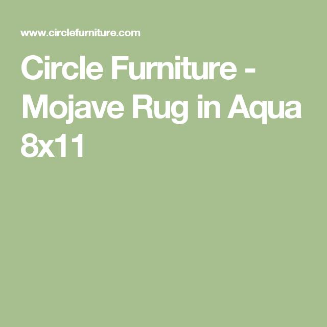Circle Furniture   Mojave Rug In Aqua 8x11