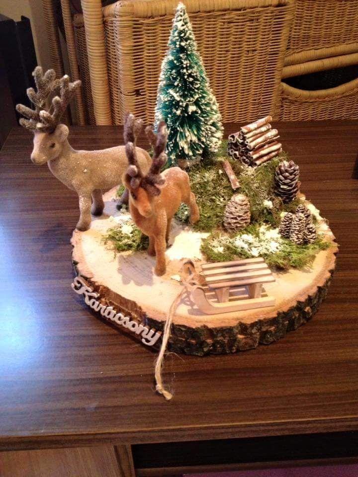 #baumscheibendekoweihnachten #rustikaleweihnachtentischdeko