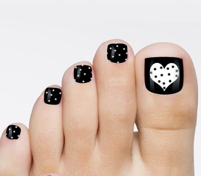 Toenail Designs - Toenail Designs White Toenails, Black And Pedicures