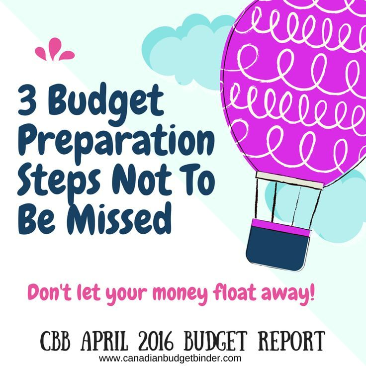 3 Budget Preparation Steps Not To be Missed PLUS our Actual April