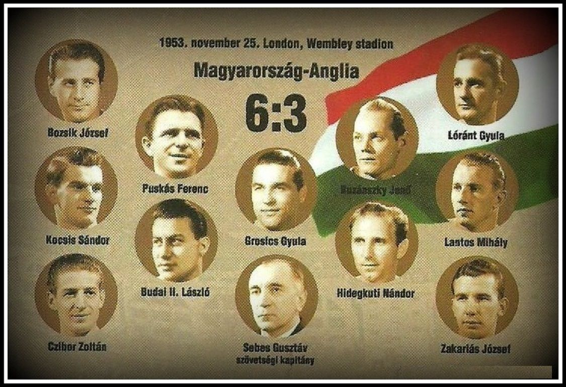 Los magiares mágicos que se hizo conocido venciendo a Inglaterra 6-3 en Wembley en 1953.