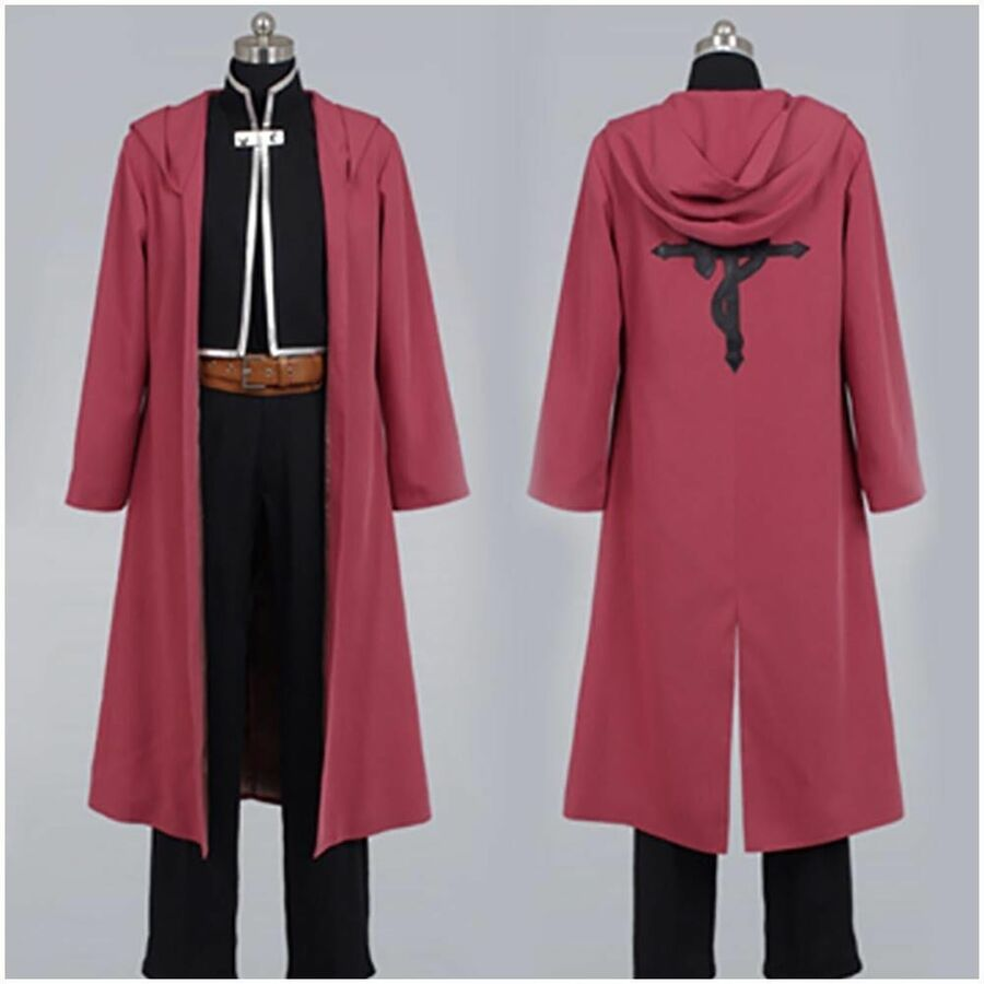 Fullmetal Alchemist Edward Elric Cosplay Costume Trench Halloween Outfit Coat