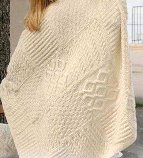 Knitting Pattern Lovely Aran Blanket Knitted In Squares Ple3imo
