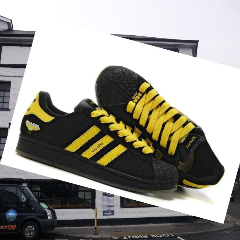 ce8680cf967f41 ... clearance black yellow adidas adicolor womens running shoes let your  feet always enjoy the fun of