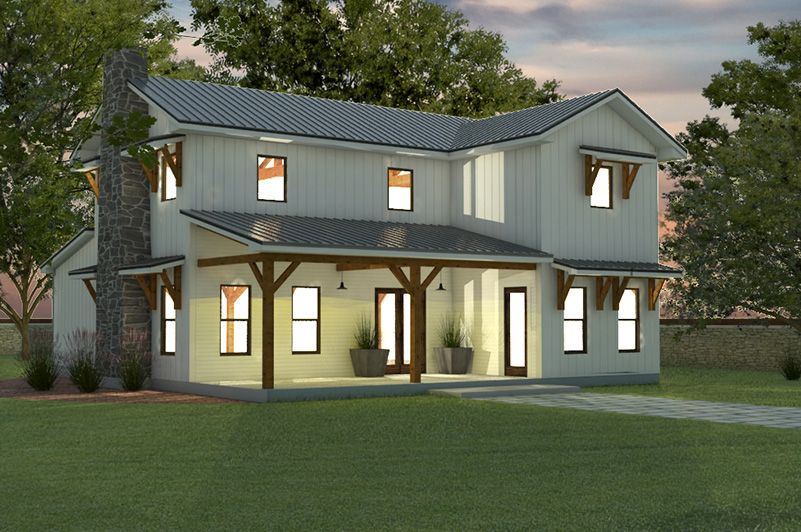 Fine Timber Frame Home Kit Farmhouse Series By Texas Timber Home Interior And Landscaping Elinuenasavecom