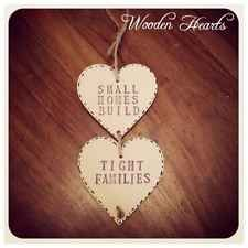Shabby Chic Wooden Hearts Vintage Inspired Small Homes Build Tight Families Sign