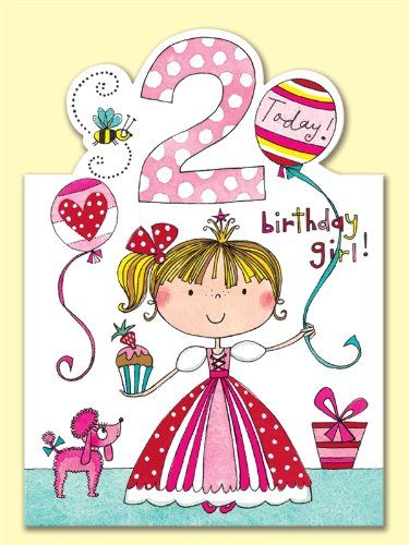 Rachel Ellen Age 2 Princess Birthday Card Amazoncouk Office Products