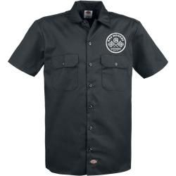 Gas Monkey Garage Custom Motors Herren-Kurzarmhemd - schwarz - Offizieller & Lizenzierter Fanartikel