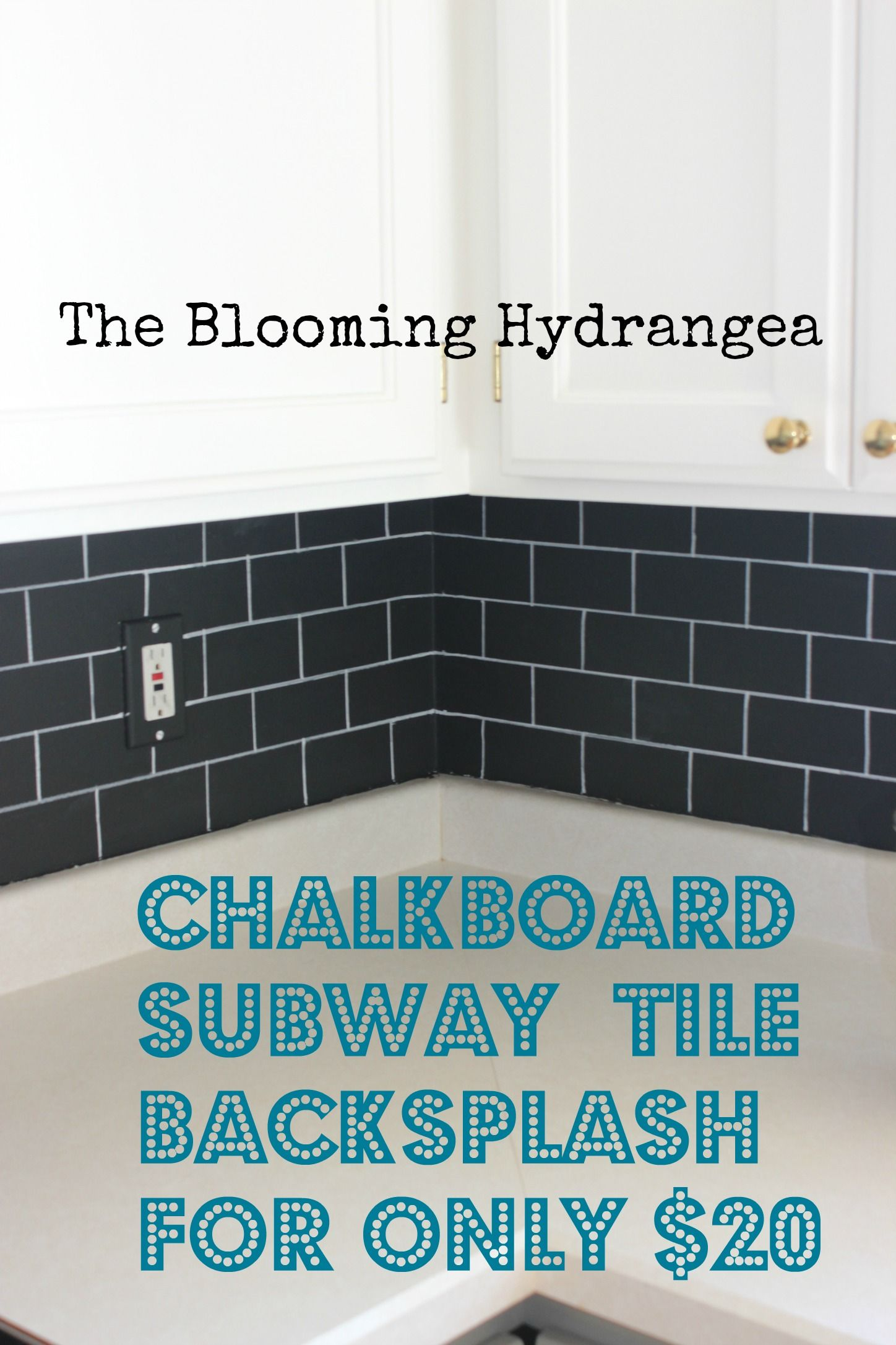 On a budget? How about a faux subway tile backsplash using ...