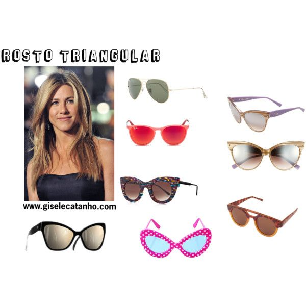rosto - tipo de oculos by giselecatanho on Polyvore featuring moda, Christian Dior, Thierry Lasry and Ray-Ban
