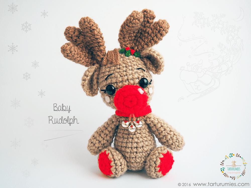 Amigurumi Patrón: Reno Baby Rudolph in 2018 | Ganchillo - amigurumis ...