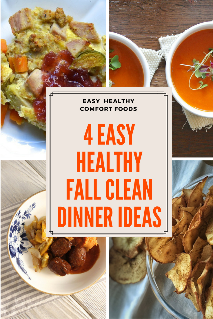 4 easy fall healthy clean eating dinner ideas #crockpot #souprecipes