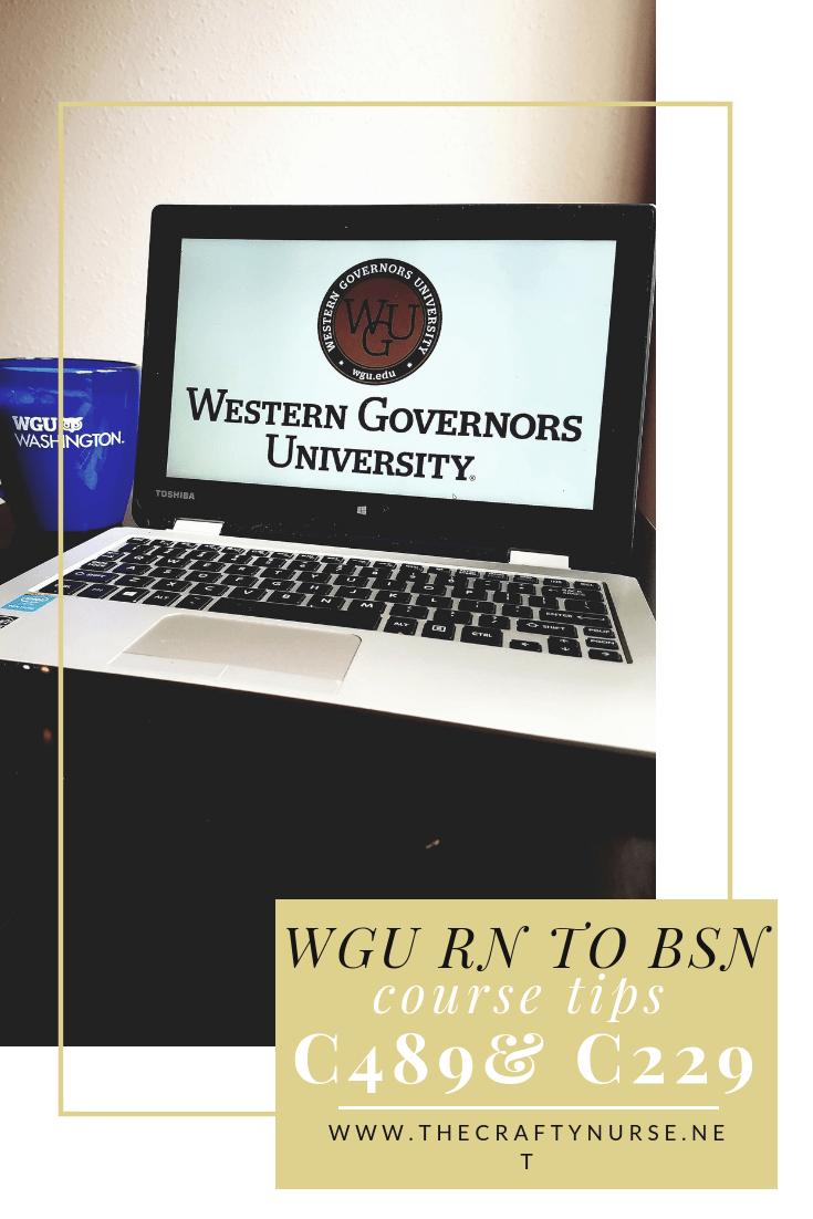 Wgu Rn To Bsn Course Tips Part 4 C489 C229 The Crafty Nurse Rn Bsn Bsn Online Nursing Schools